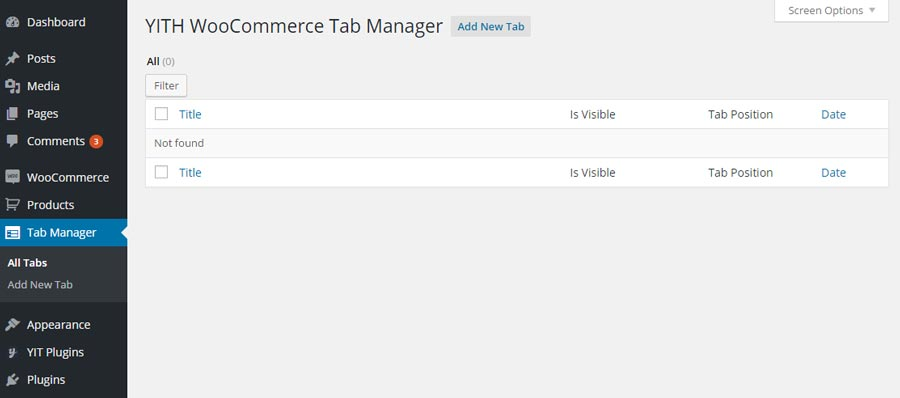 Extended - Woocommerce Tab Manager Module